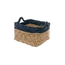 Maize Woven Storage Basket Square Navy&Natural (25x25x15cmH)