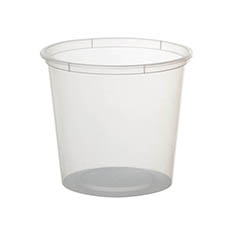 General Flower Bowls & Guards - Container Plastic Rnd 850ml Single (12Dx11cmH)