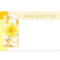 Cards Frangipani Happy Mothers Day 50 Pack (10x6.5cmH)
