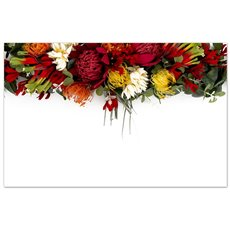 Florist Enclosure Cards - Cards Australian Native Flowers (10x6.5cmH) Pack 50