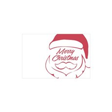 Cards Christmas Santa Face Red 50pk (10x6.5cmH)