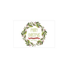 Cards Christmas Trendy Wreath 50pk (10x6.5cmH)