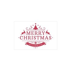 Cards Merry Christmas Red 50pk (10x6.5cmH)