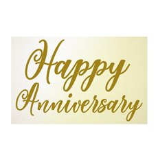 Florist Enclosure Cards - Cards Happy Anniversary Gold (10x6.5cmH) Pack 50