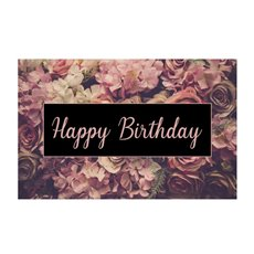 Florist Enclosure Cards - Cards Happy Birthday Vintage Bunch (10x6.5cmH) Pack 50