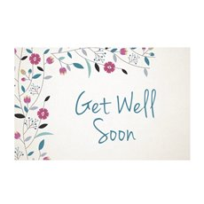 Florist Enclosure Cards - Cards Get Well Soon Blue (10x6.5cmH) Pack 50