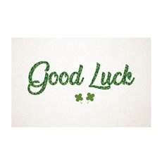 Florist Enclosure Cards - Cards Good Luck Clover (10x6.5cmH) Pack 50