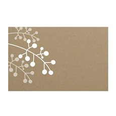 Florist Enclosure Cards - Cards Brown Kraft Branch (10x6.5cmH) Pack 50