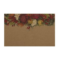Florist Enclosure Cards - Cards Brown Kraft Native Flowers (10x6.5cmH) Pack 50