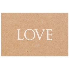 Florist Enclosure Cards - Cards Brown Kraft Love (10x6.5cm) Pack 50