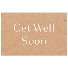 Cards Brown Kraft Get Well 50 Pack  (10x6.5cmH)