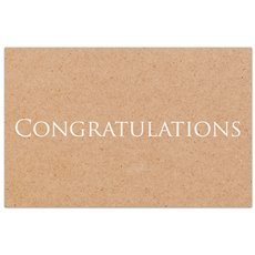 Cards Brown Kraft Congratulations 50 Pack  (10x6.5cmH)