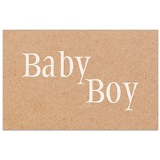 Cards Brown Kraft Baby Boy 50 Pack  (10x6.5cmH)