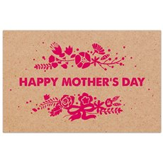 Cards Brown Kraft Happy Mothers Day Pink 50 Pack (10x6.5c