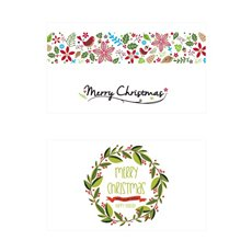 Folded Card with Envelopes Christmas Garden 24Pack (10x6.5cm