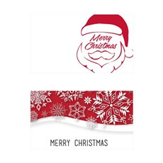 Folded Card with Envelopes Merry Christmas 24Pack(10x6.5cm)