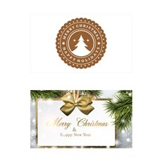Folded Card with Envelopes Christmas Classic24Pack (10x6.5cm