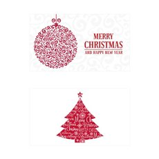 Folded Card with Envelopes Christmas Festive24Pack (10x6.5cm