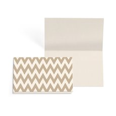 Folded Gift Cards - Folded Card with Envelopes Chevron Tpe Gry(10x6.5cm) Pack 24