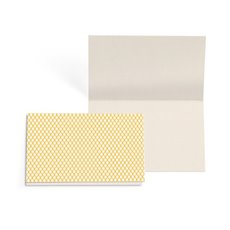 Folded Card with Envelopes Diamond Yellow 24Pack (10x6.5cm)
