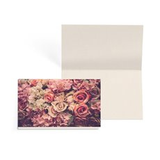 Folded Gift Cards - Folded Card with Envelopes Vintage Rose (10x6.5cm) Pack 24