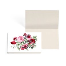 Folded Gift Cards - Folded Card with Envelopes Get Well Flowers (10x6.5cm)Pk 24