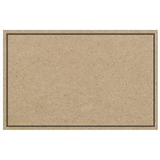 Cards Brown Kraft Blank Black Border PK50 (10x6.5cm)