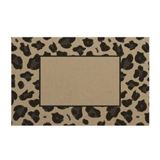 Cards Brown Kraft Leopard Frame (10x6.5cmH) 50Pk