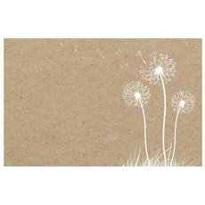 Florist Enclosure Cards - Cards Brown Kraft Dandelion (10x6.5cm) Pack 50