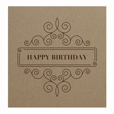 Florist Enclosure Cards - Cards Square Brown Kraft Birthday (10x10cm) Pack 50