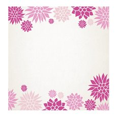 Florist Enclosure Cards - Cards Square Floral Border Pink (10x10cm) Pack 50
