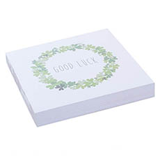 Cards Square Good Luck Wreath (10x10cm) Pack 50