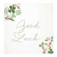 Florist Enclosure Cards - Cards Square Good Luck Floral (10x10cm) Pack 50