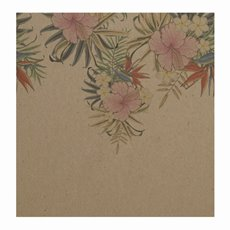 Florist Enclosure Cards - Cards Square Brown Kraft Floral (10x10cm) Pack 50
