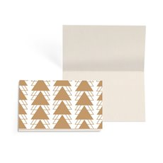 Folded Gift Cards - Folded Card w Envelopes Christmas Geo Tree (10x6.5cm) Pk 25