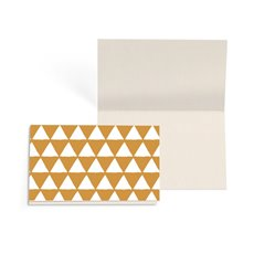Folded Gift Cards - Folded Card w Envelopes Xmas Geo White (10x6.5cm) Pk 25