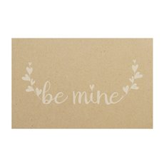 Cards Brown Be Mine White 50Pk (10x6.5cmH)
