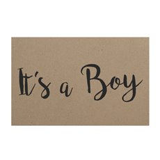 Florist Enclosure Cards - Cards Brown Kraft Its a Boy (10x6.5cmH) Pack 50