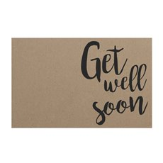 Florist Enclosure Cards - Cards Brown Kraft Get Well Soon (10x6.5cmH) Pack 50