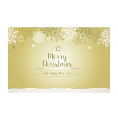 Small Florist Enclosure Cards - Cards Merry Christmas 50Pk (10x6.5cmH)