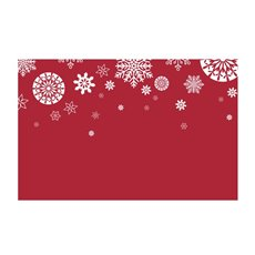 Small Florist Enclosure Cards - Cards Christmas Snowflake Red 50Pk (10x6.5cmH)