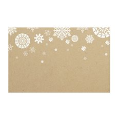 Small Florist Enclosure Cards - Cards Christmas Snowflake Kraft 50Pk (10x6.5cmH)