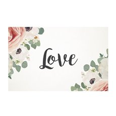Florist Enclosure Cards - Cards White Love Rose (10x6.5cmH) Pack 50