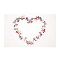 Florist Enclosure Cards - Cards White Heart Wreath (10x6.5cmH) Pack 50