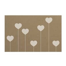 Florist Enclosure Cards - Cards Kraft Lollipop Heart (10x6.5cmH) Pack 50