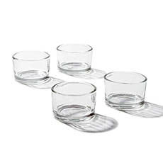 Mini Glass Tealight Holder Clear (5.2x3.2cmH)