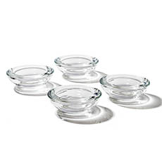 Candle Holders - Glass Tealight Candle Holder Low Flat Clear (7.5x2.5cmH)