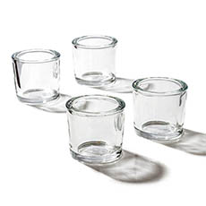Candle Holders - Glass Tealight Candle Holder Classic Premium Clear 6.3x6cmH
