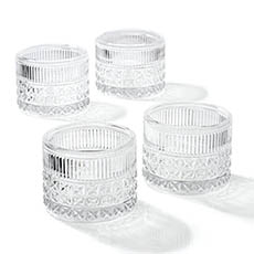Tealight Candle Holders - Glass Candle Holder Vino Clear (10.5x8cmH)