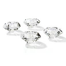 Diamond Crystal Glass Tealight Candle Holder Clear (7x4cmH)
